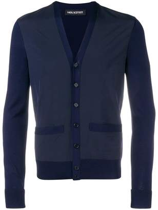Neil Barrett contrast panel cardigan