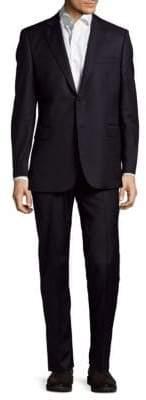 Slim Fit Herringbone Wool Suit