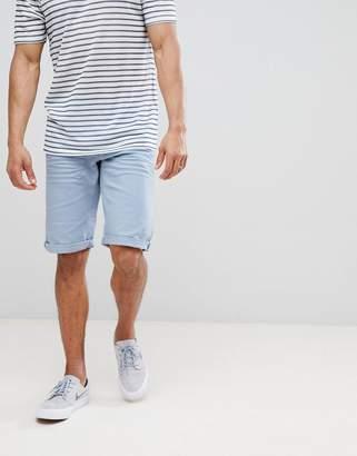 Esprit Slim Fit 5 Pocket Shorts In Blue