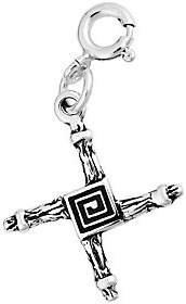 QVC Sterling Silver Textured Cross Charm