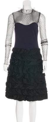 Lanvin Lace and Satin Dress