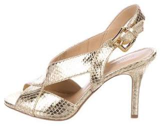 MICHAEL Michael Kors Becky Metallic Embossed Sandals