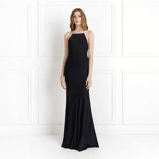 Rachel Zoe Jaclyn Satin-Backed Crepe Gown