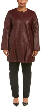 Marina Rinaldi Leather Coat