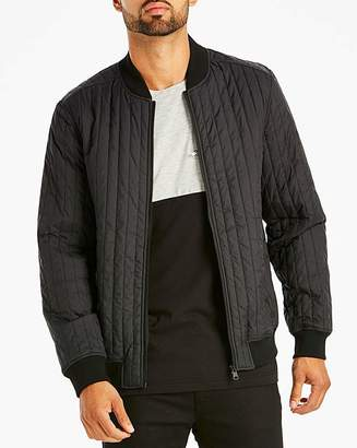 Jacamo Black Quilted Bomber Long