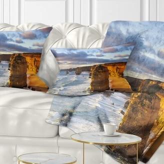 East Urban Home Seascape Twelve Apostles Australia Lumbar Pillow East Urban Home