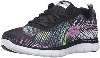 Skechers Women's Flex Appeal 2.0-Tropical Multisport Outdoor Shoes, (Black/Multi), 37 1/2 EU