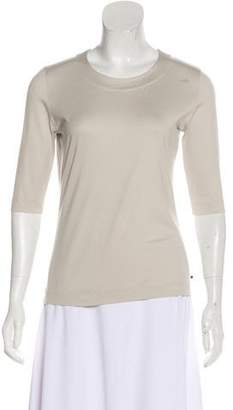 Akris Punto Scoop Neck Three-Quarter Sleeve Top