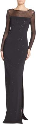 St. John Sequined Shimmer Milano Knit Gown