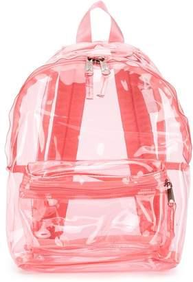 Eastpak clear pink backpack