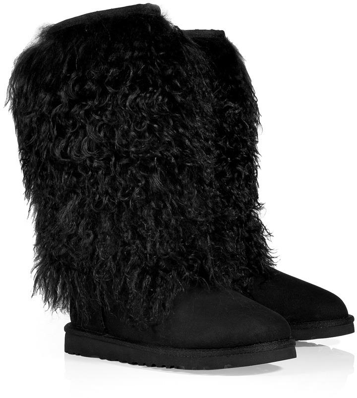 UGG Australia Black Classic Tall Sheepskin Cuff Boots