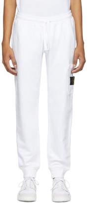 Stone Island White Pocket Sweatpants