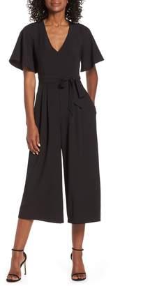d7fd92c7d0c Eliza J Flounce Sleeve Wide Leg Jumpsuit