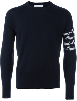 Thom Browne dog intarsia jumper $1,204 thestylecure.com