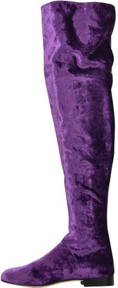 Alberta Ferretti Velvet Over-the-knee Boots