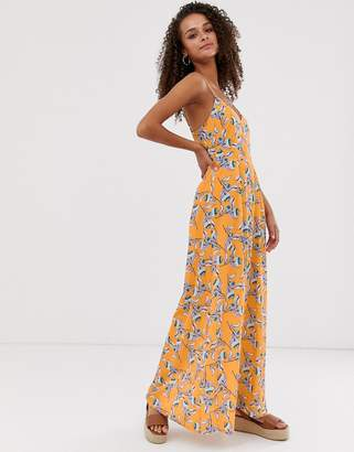 Parisian printed maxi dress