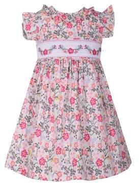 b6db6794852e Iris   Ivy Little Girl s Floral Cotton Smocked Dress