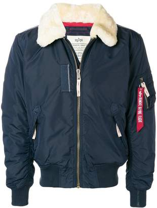 Alpha Industries shearling collar padded jacket