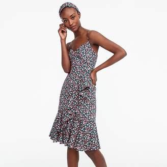 Petite ruffle dress In Liberty® sarah floral