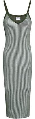 Milly Ribbed-knit Midi Dress