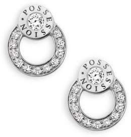 Piaget Possession Diamond& 18K White Gold Stud Earrings