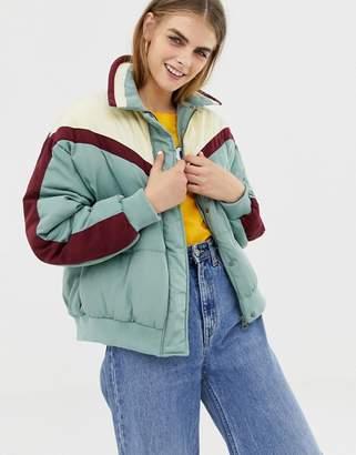 Pull&Bear chevron puffer jacket