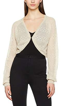 Vero Moda Women's 169813 V-Neck 3/4 Sleeve Shrug - Off-White - 8