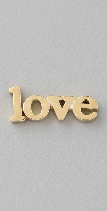 Jennifer Meyer Jewelry Love Stud Earring