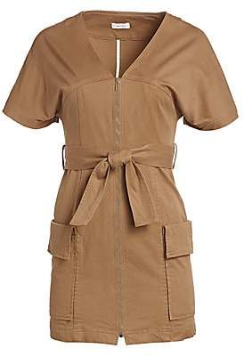 A.L.C. Women's Bellamy Belted Stretch Cotton Dress - Size 0