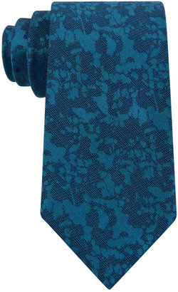 Calvin Klein Men's Abstract Botanical Slim Tie $65 thestylecure.com