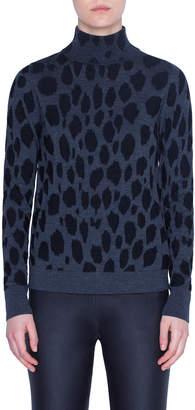 Akris Punto Animal-Dot Print Wool Sweater