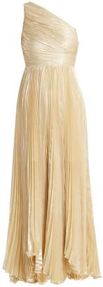 Maria Lucia Hohan Atheer one-shoulder pleated silk-blend gown