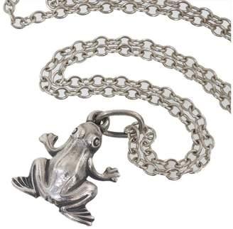 Georg Jensen 925 Sterling Silver Frog Motif Pendant Necklace