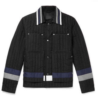 Craig Green Colour-Block Quilted Shell Jacket - Black