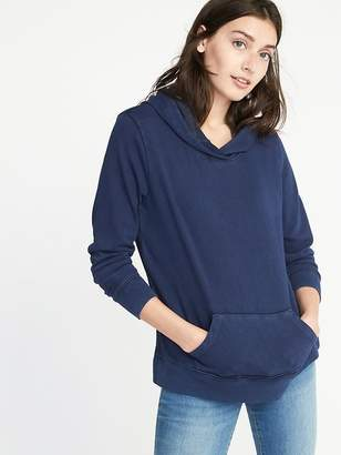 Old Navy Garment-Dyed Fleece Pullover Hoodie for Women