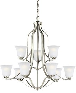 Darby Home Co Burhall 75W 9-Light Shaded Chandelier Darby Home Co