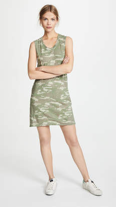 Monrow Tonal Camo Tank Dress