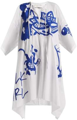Marques Almeida Marques'almeida - Embroidered Kaftan - Womens - White Multi