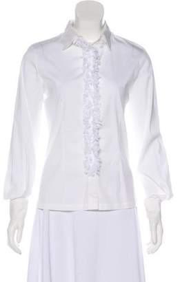 Fuzzi Long Sleeve Button-Up Top