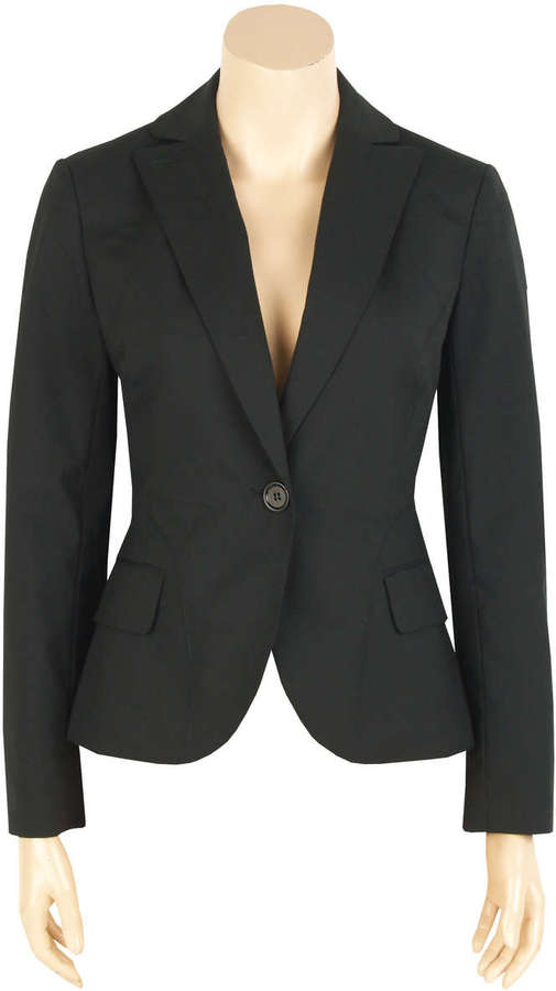 Stretch Wool Boradcloth Blazer