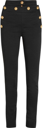 Balmain - High-rise Skinny Jeans - FR44 $1,360 thestylecure.com