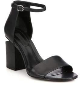 dcdd7730c Alexander Wang Black Leather Upper Women's Sandals - ShopStyle