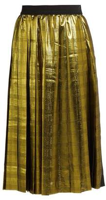 Muveil High-rise pleated skirt
