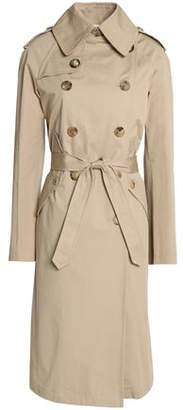 Sandro Double-breasted Cotton-gabardine Trench Coat