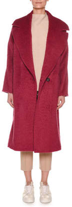 Agnona Notched-Collar Double-Breasted Alpaca-Wool Coat