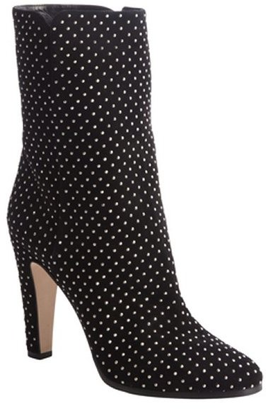 Jimmy Choo black suede studded detail 'Tari' ankle boots