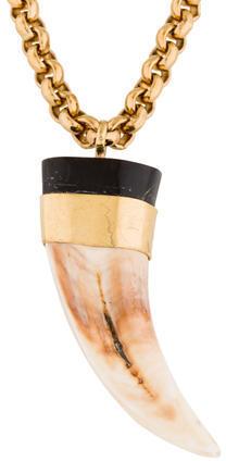 Roberto CavalliRoberto Cavalli Buffalo Horn Pendant Necklace