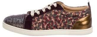 Christian Louboutin Woven Low-Top Sneakers