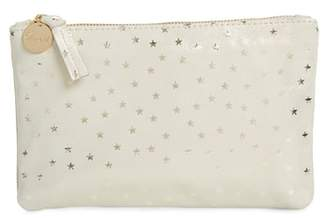 Clare Vivier Supreme Star Shimmer Suede Wallet Clutch
