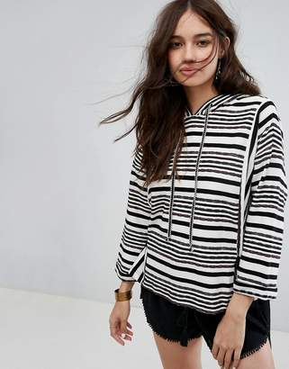 Moon River Stripe Sweater With Tie Details